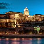 Royal Palace or Buda Castle at evening. Budapest, Hungary